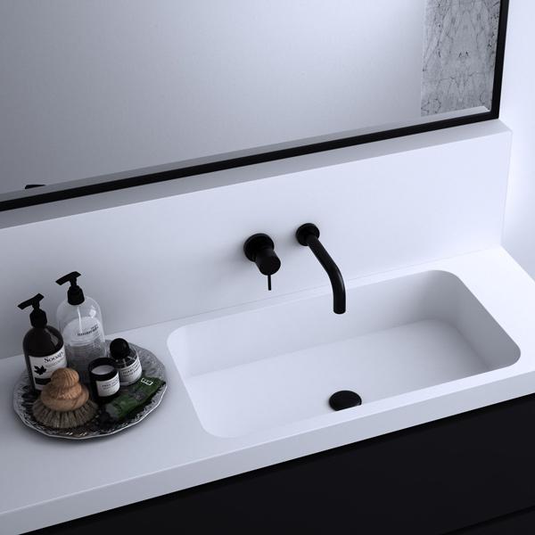 encimeras para baño de solid surface Theion